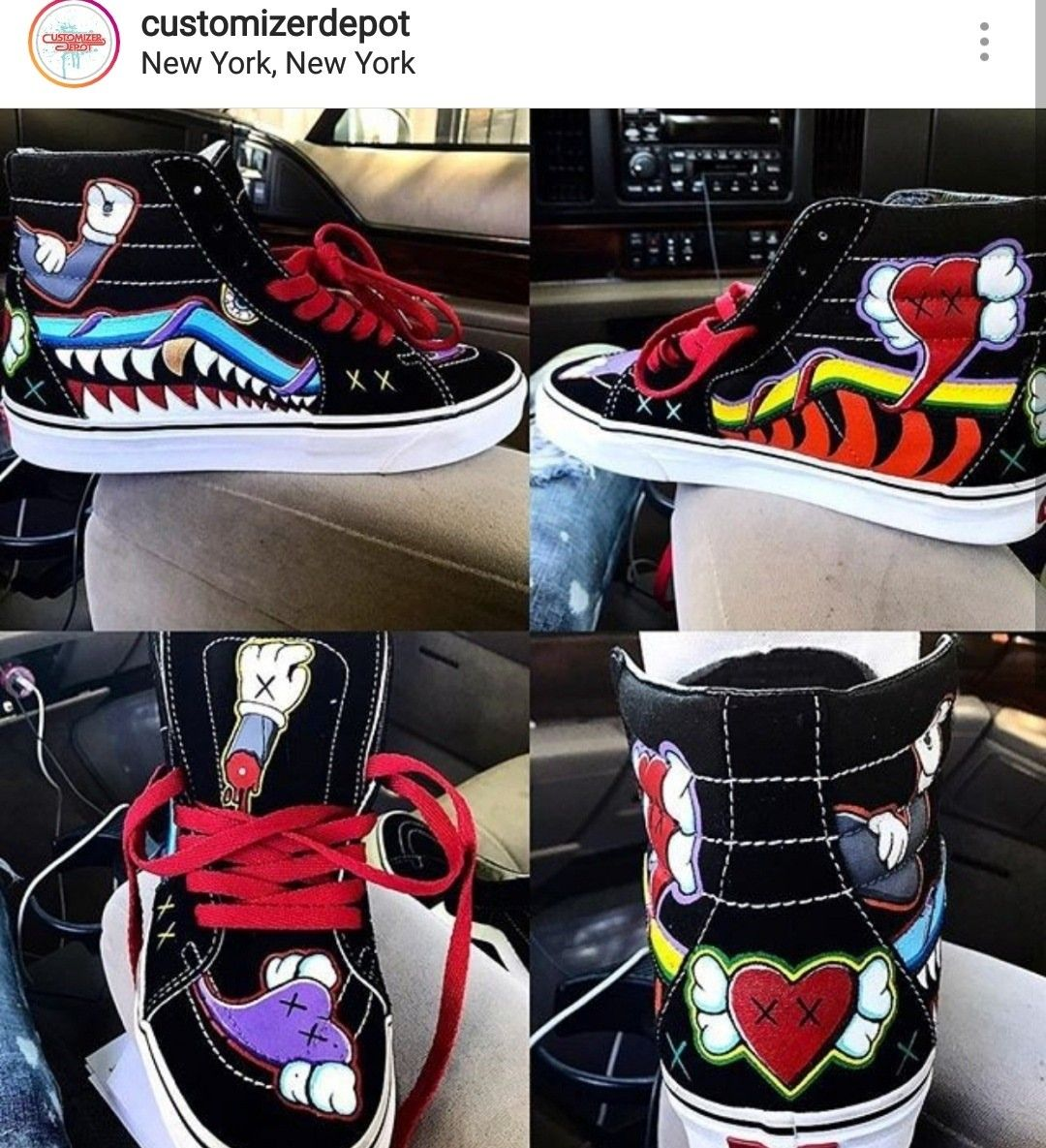 Would you like to see a KAWS x Vans collaboration  Done by  6061beastmoe510   kawsxvans  kaws  kawssneakers  customshoes  customizer  customizerdepot ... 54a02e8d5