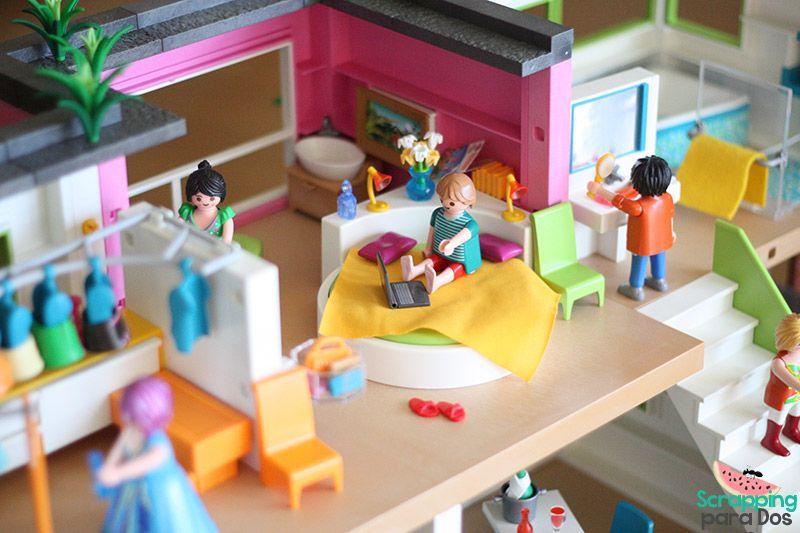 Mansi n moderna de lujo playmobil figuras pinterest for Mansion de playmobil