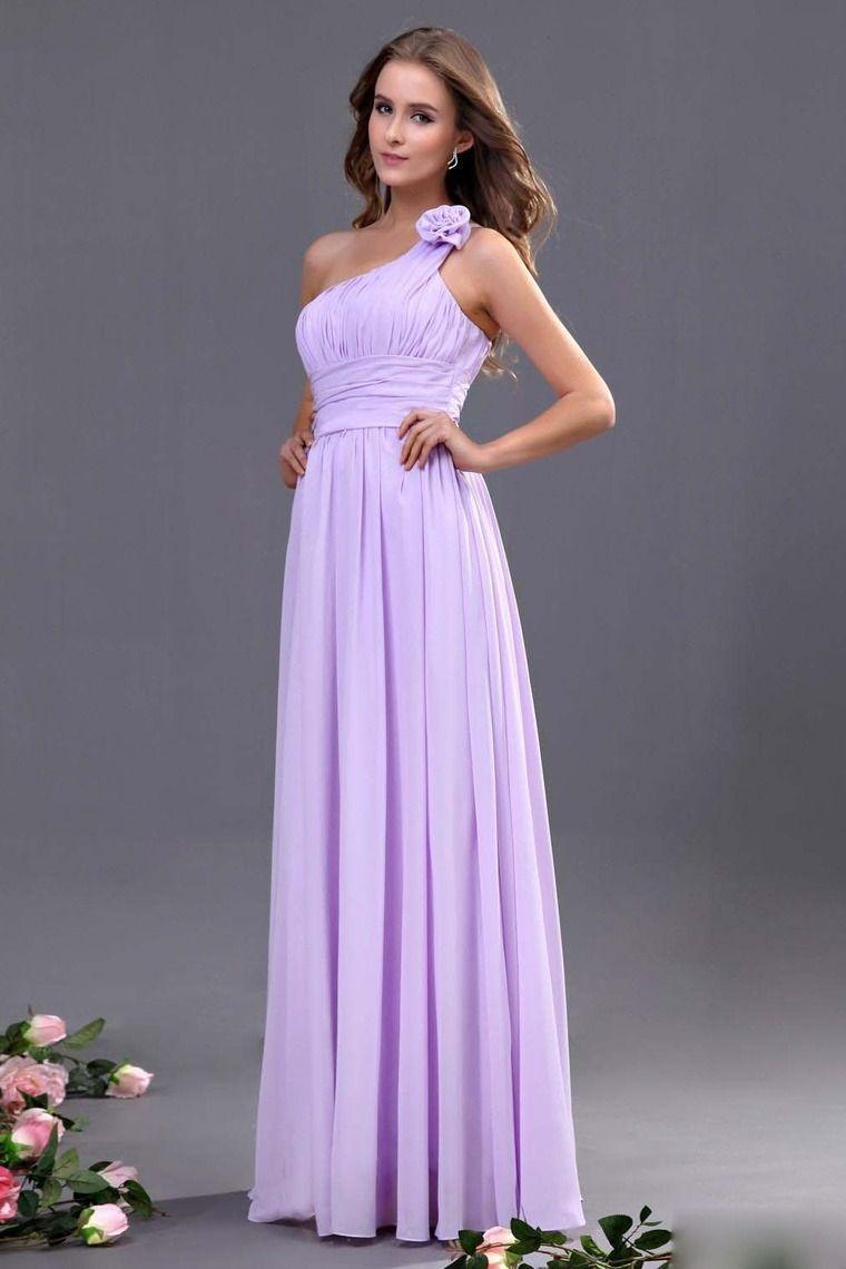 2013 Bridesmaid Dresses Purple Sheath/Column One Shoulder Floor ...