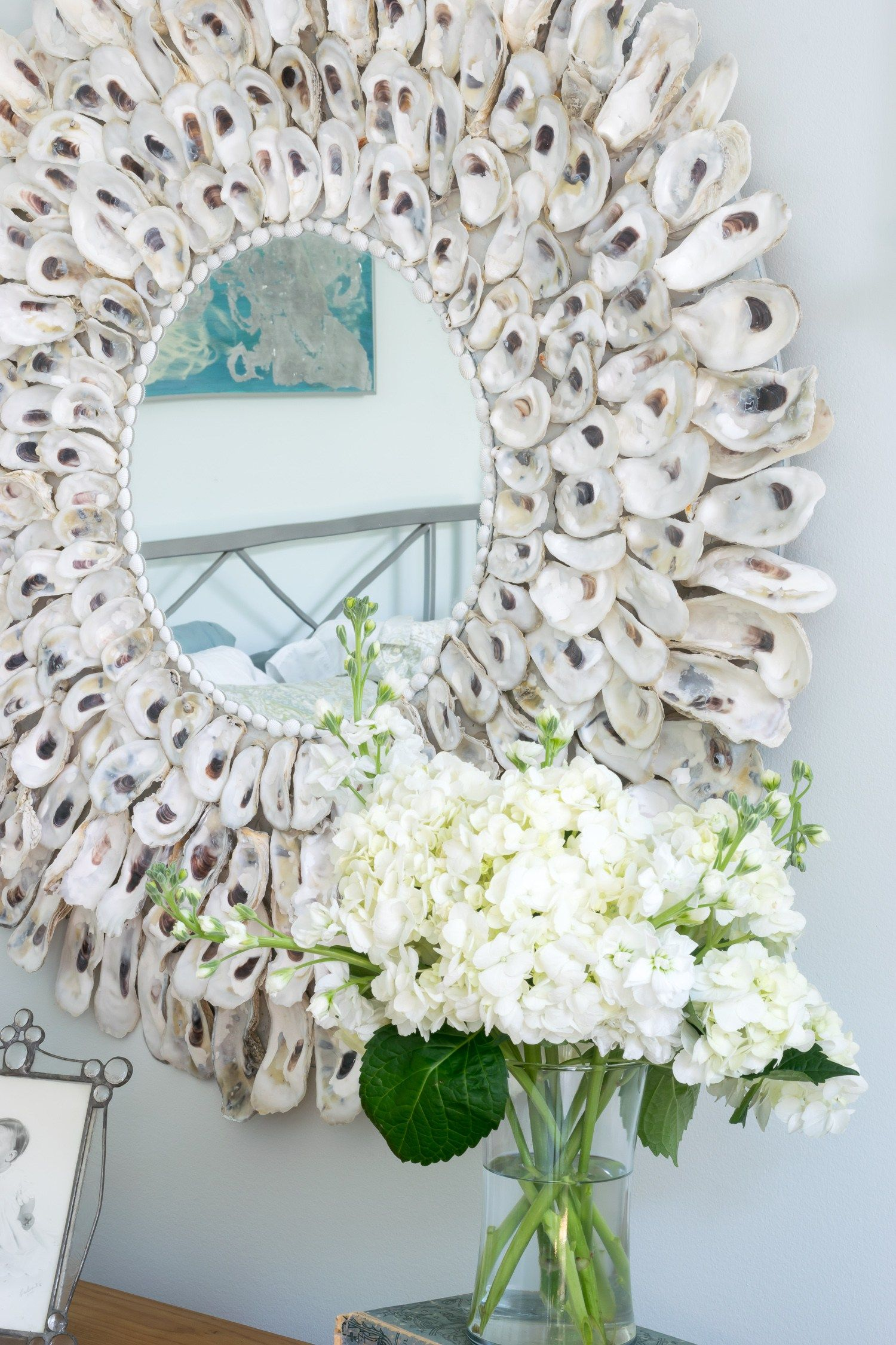 Easy To Make Oyster Shell Mirror Oyster Shell Crafts Seashell