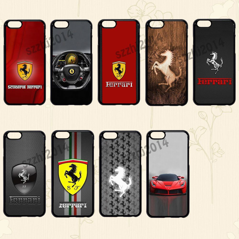 Ferrari Logo Protective Phone Case Cover For Various Smart Phone Note 8 S8 D499 Phone Cases Protective Phone Cases Phone Case Cover