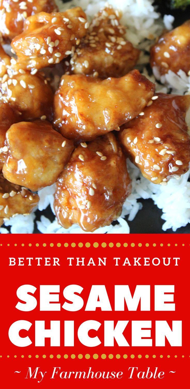 Besser als Sesamhähnchen zum Mitnehmen - New Ideas #chickenrecipes