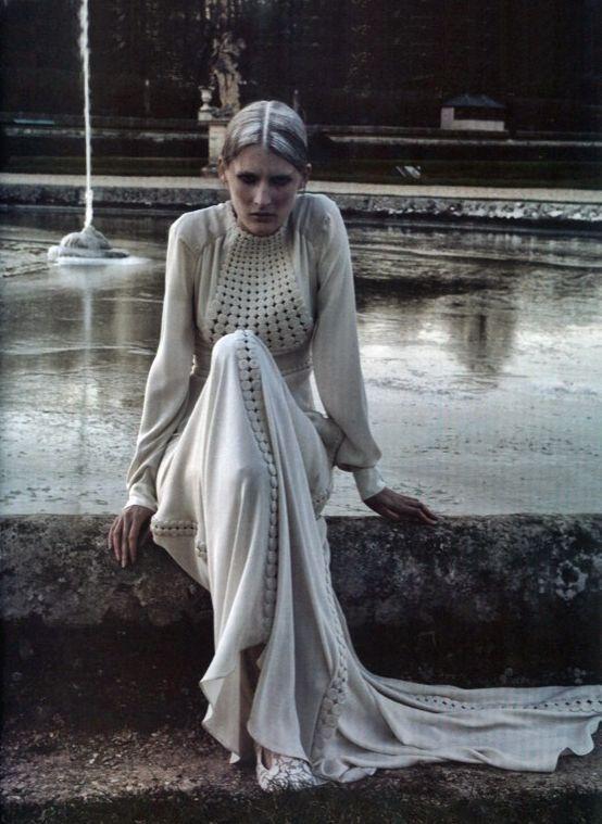 Marie Piovesan in Vogue Italia March 2012 by Deborah Turbeville