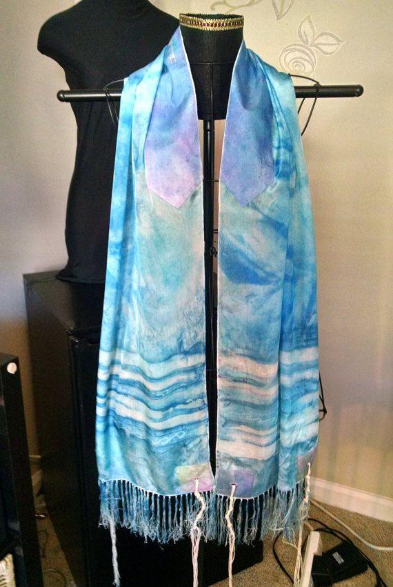 Watercolor Silk Tallit By Northcarolinasilks On Etsy