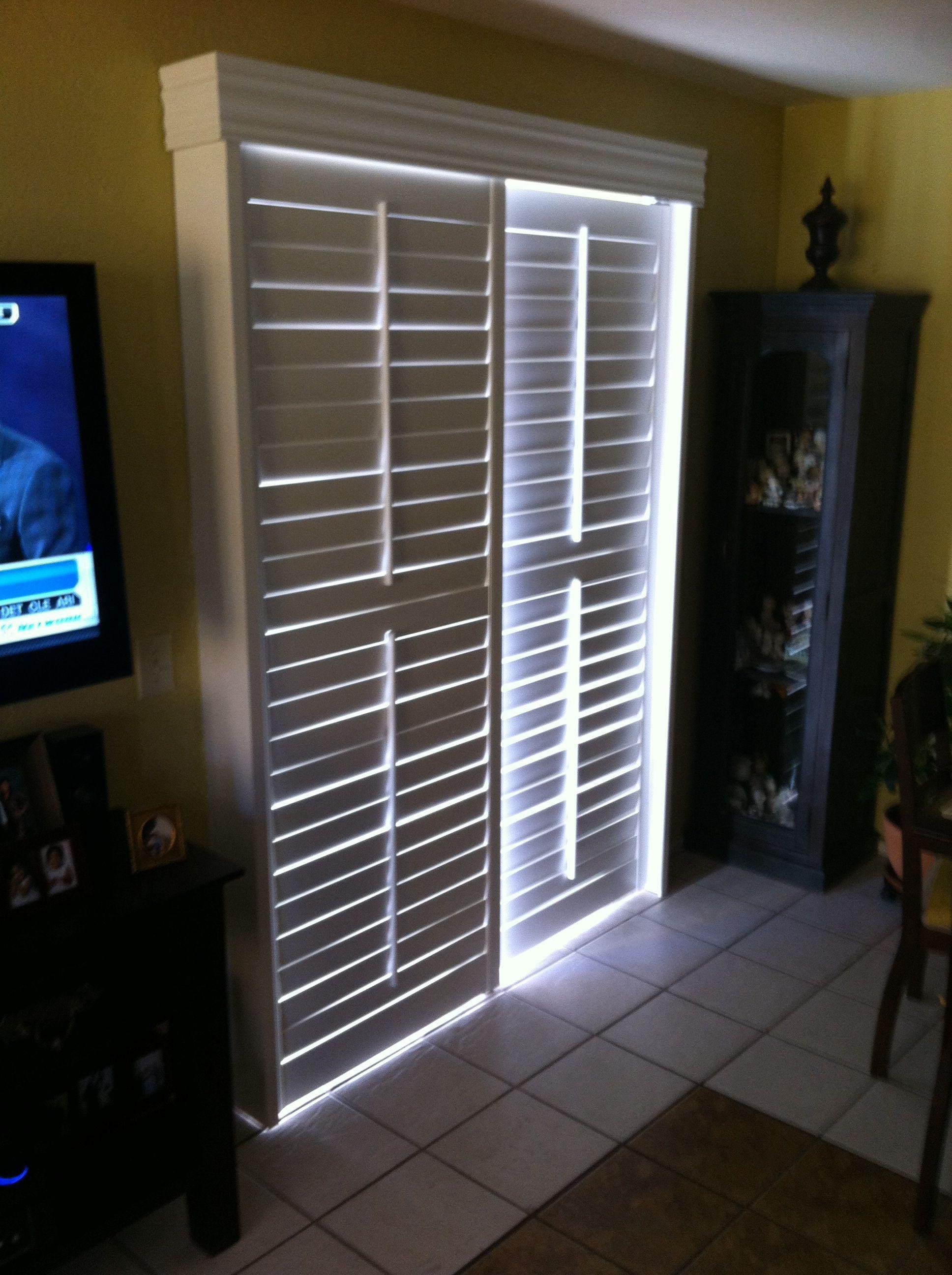 Door window coverings  sliding glass door shutter bedroom familyroom windowcoverings