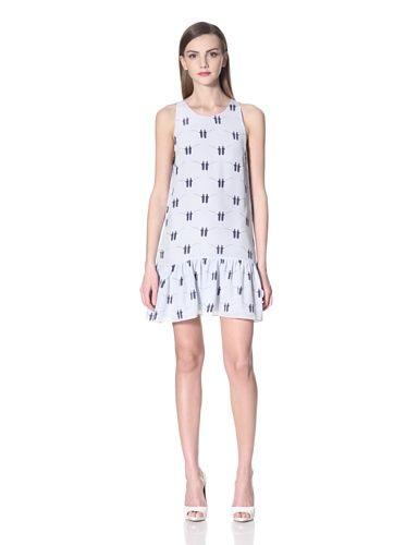 Aijek Women s Back to Back Drop Waist Mini Dress (Fisherman Print ... e9b06e1365