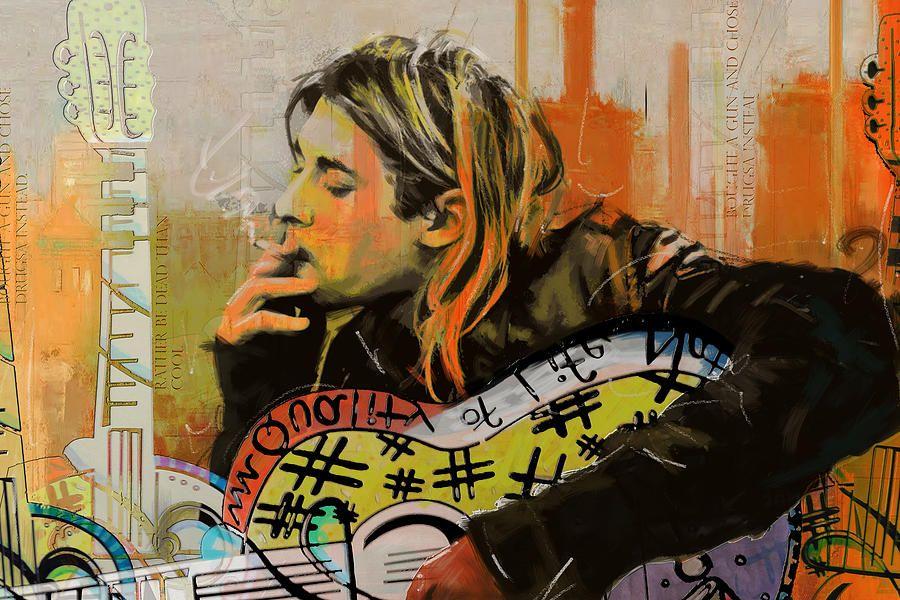 Kurt Cobain Painting by Corporate Art Task Force   K.D.C. Art ...