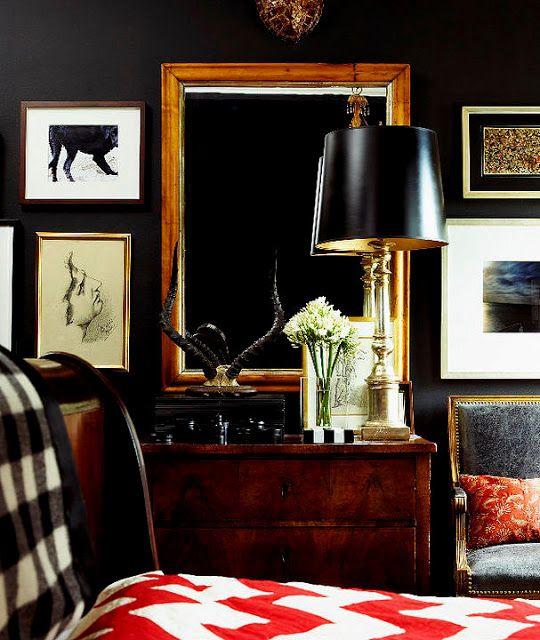 Black Rooms + Black Paint Colors