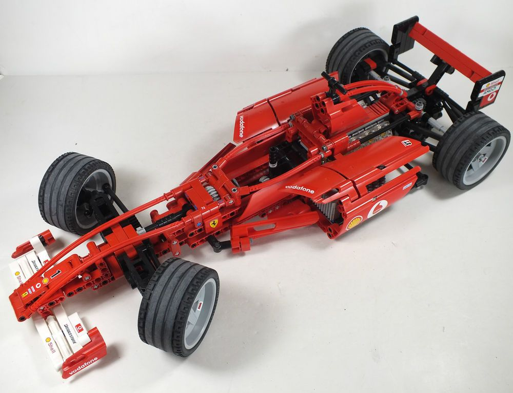 lego technic f1 red ferrari racing car 8386 1 10 scale 18 long legos pinterest lego. Black Bedroom Furniture Sets. Home Design Ideas