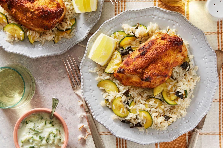 Blue apron zucchini - Tandoori Style Chicken Rice With Summer Squash Raita Blue Aprontandoorisummer