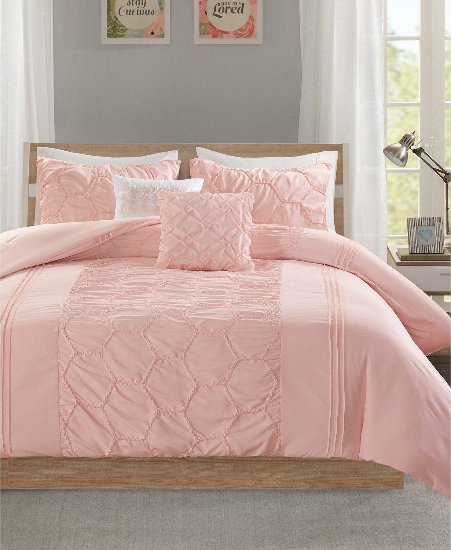 Carrie 4 Pc Twin Twin Xl Comforter Set Pink Bedroom In 2019
