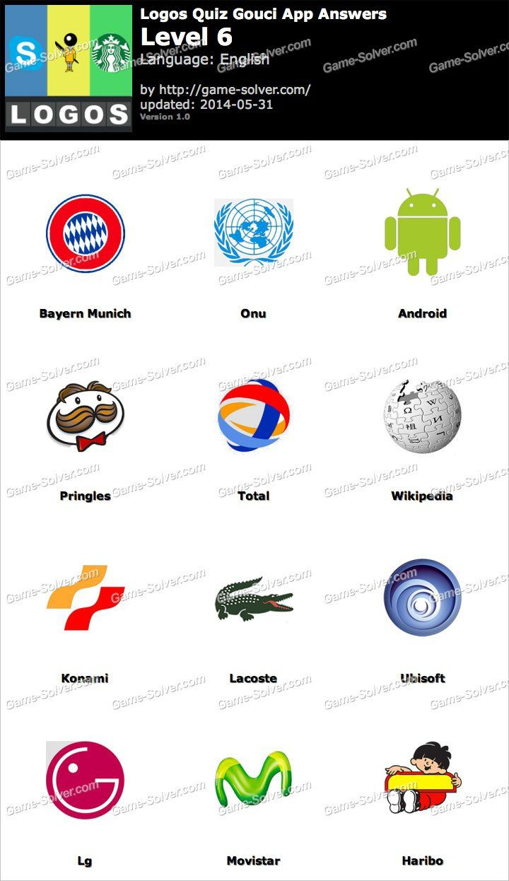 Logo Game Answers Level 6 : answers, level, Logos, Gouci, Level, Quiz,, Answers,, Answers