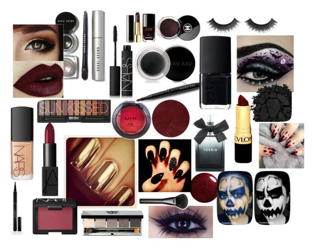 """Halloween Beauty"" by craftluver101 ❤ liked on Polyvore featuring beauty, NARS Cosmetics, Bobbi Brown Cosmetics, NYX, Chanel, Mary Kay, Burberry, Revlon, Torrid and Urban Decay"