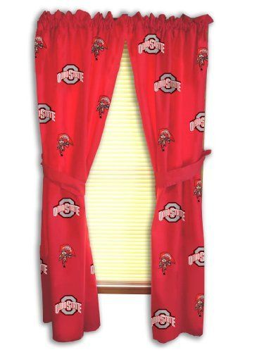 Ohio State Printed Curtain Panels 42 X 63 Ohio State Buckeyes By College Covers 38 95 100 Cotton Sat Ohio State Print Printed Curtains Ohio State Rooms