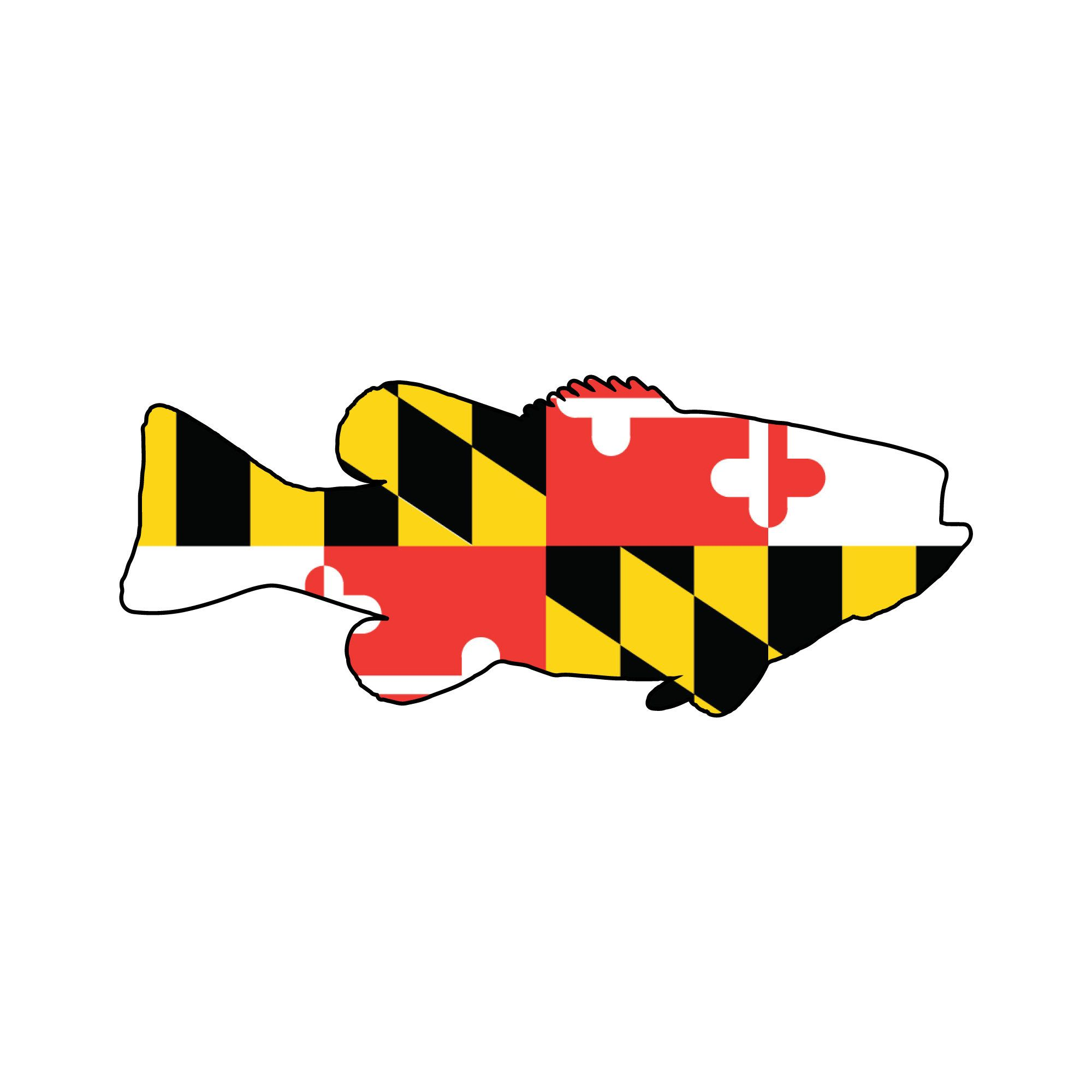 Maryland Flag Smallmouth Bass Decal Smallmouth Window Etsy In 2020 Maryland Flag Window Stickers Window Decals