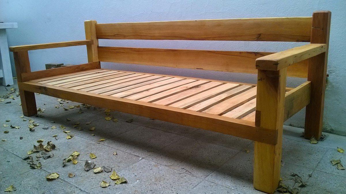 Sillon de madera dura quebracho para exterior o interior for Sillones rusticos de madera