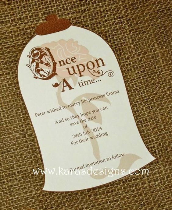 Image Result For Beauty And The Beast Be Our Guest Invitations