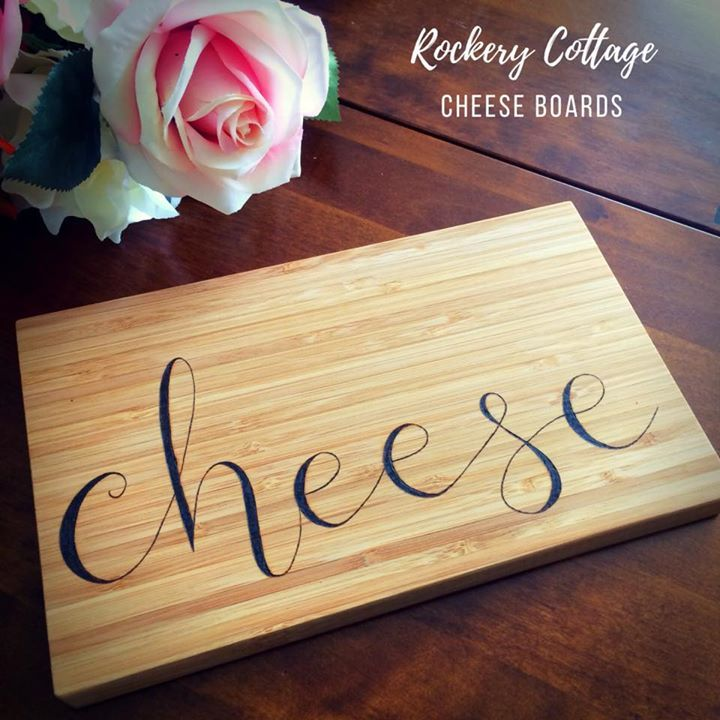 Cheese board bamboo chopping board custom pyrography wood