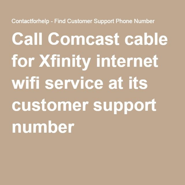 Comcast cable for Xfinity internet wifi service at its customer