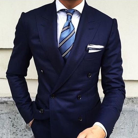 3 Must Have Colors For A Double Breasted Suit | Blue ties, Dress ...