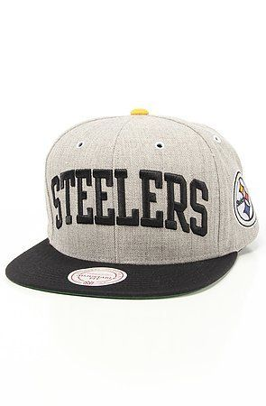 abab9c9c4b8 Mitchell Ness Pittsburgh Steelers NFL Throwbacks Basic Arch Road Grey  Snapback Hat by Mitchell Ness.  26.00