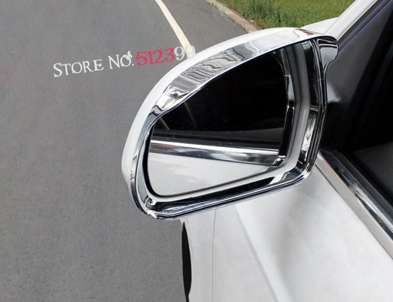 ABS Bright Chrome Car Side Door Wing Rear View Mirror Eyebrow Frame Cover Trim 2pcs For Audi Q3 8U 2016 2017 Car-Styling