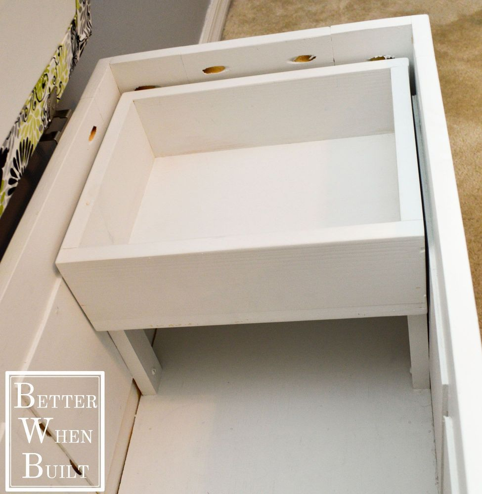 Diy File Storage Bench Fireplaces Mantels Home Office Painted