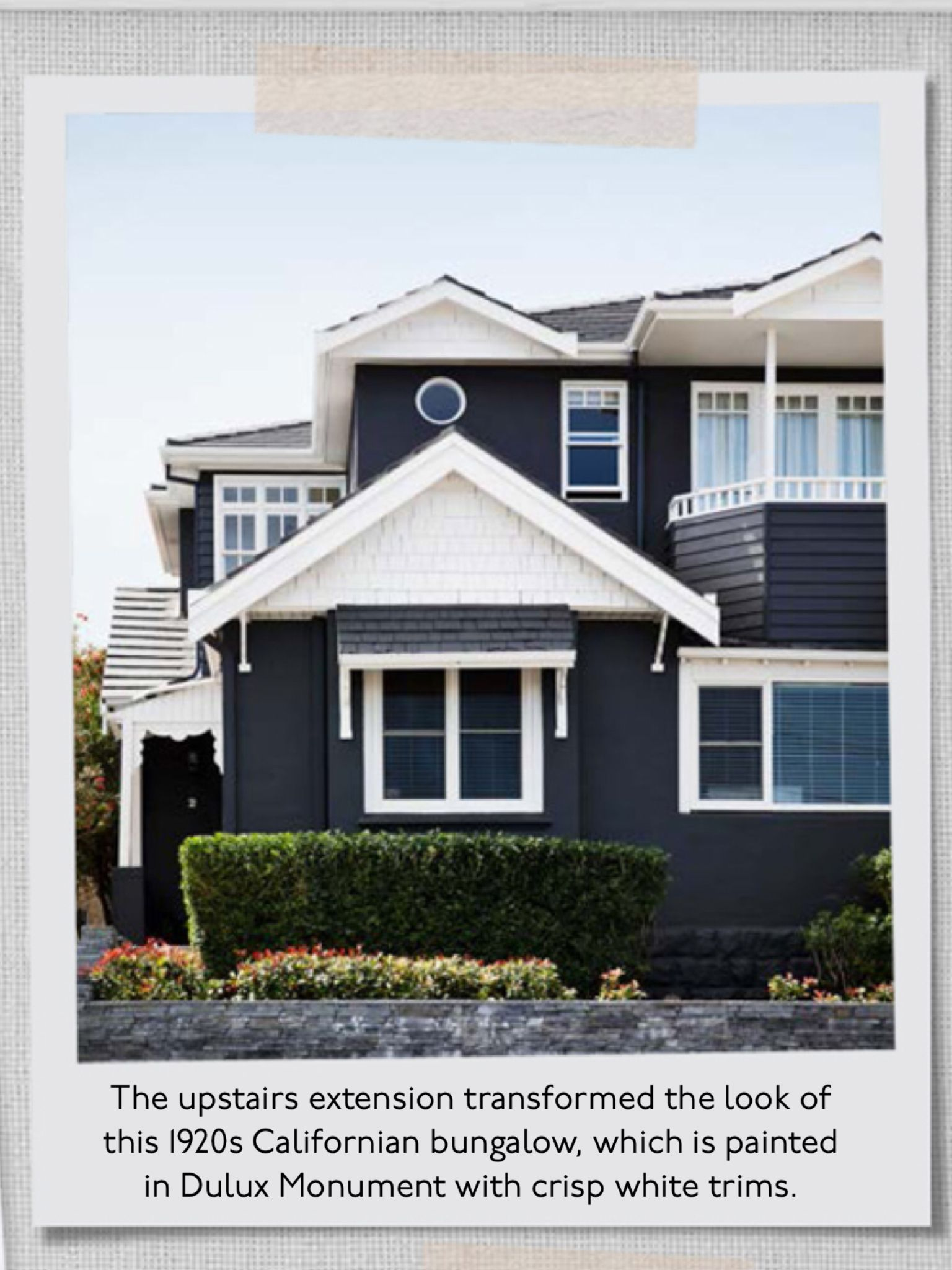 Dulux Momument Paint With White Trim House Exterior Color Schemes House Exterior Facade House