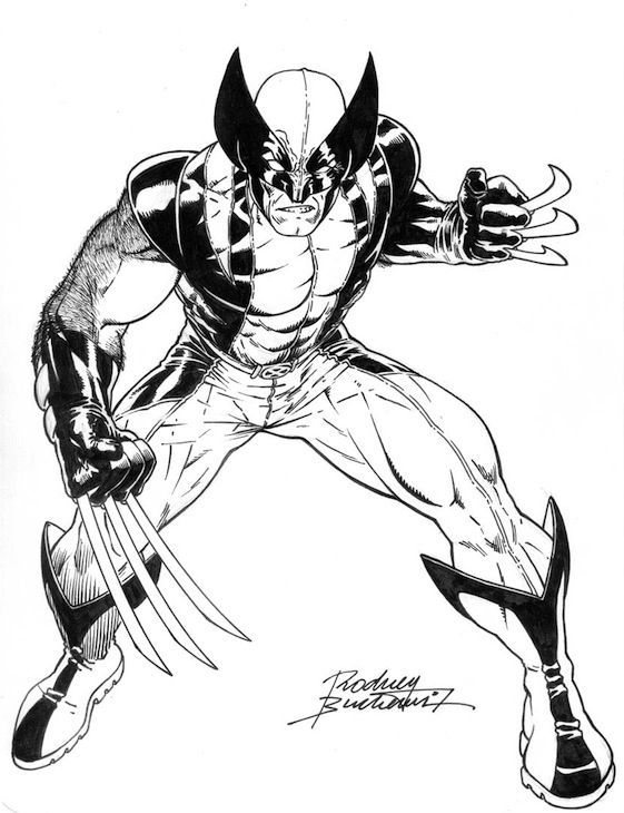free superhero printables wolverine coloring pages
