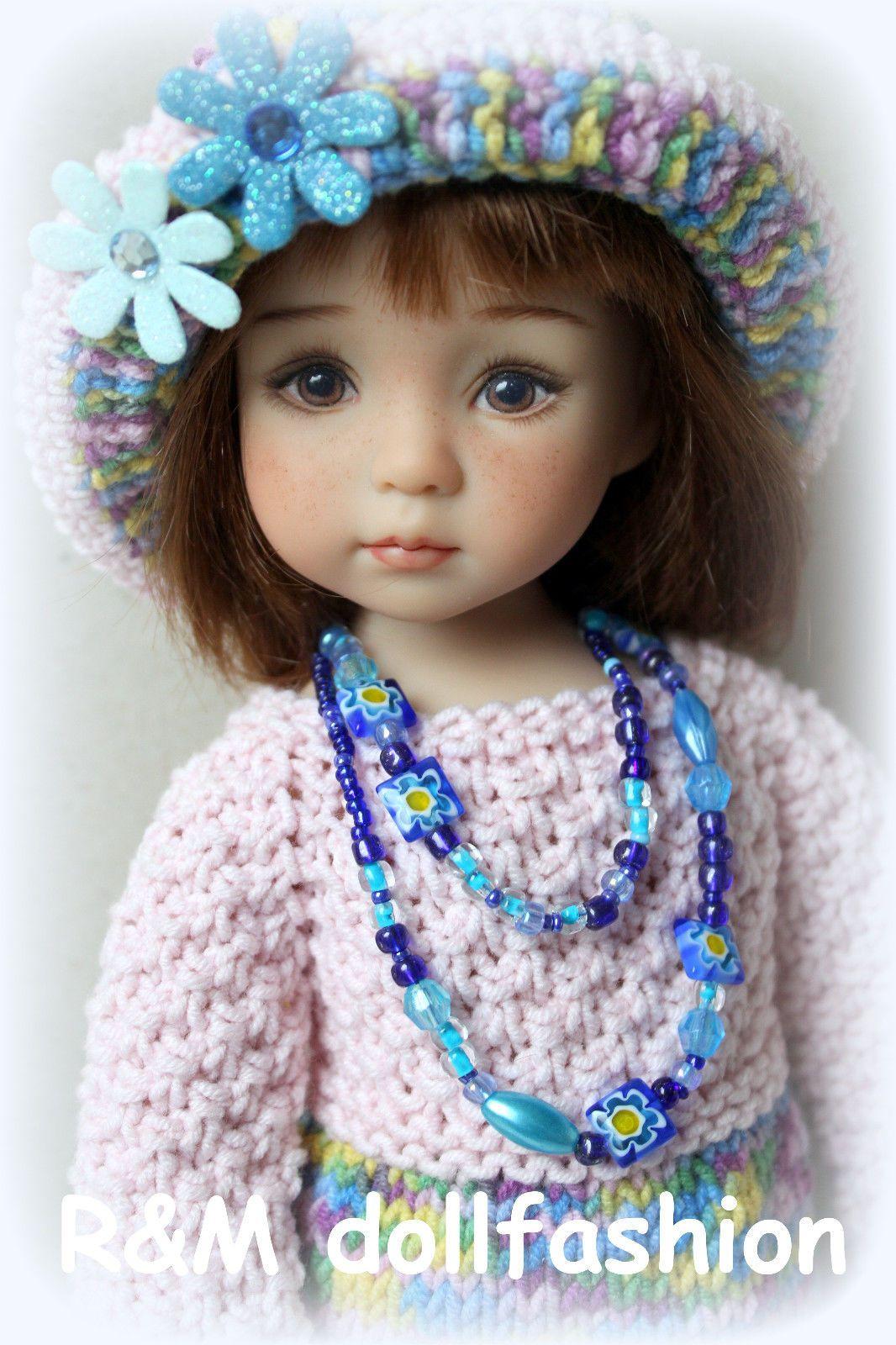 "R M Dollfashion Bright Line Handknit Set for Effner Little Darling 13"" Dolls | eBay"