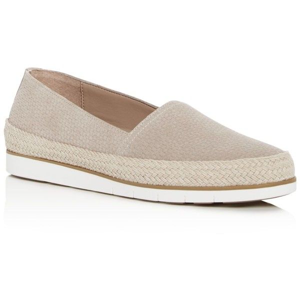 Palm Espadrille Embossed Suede Loafers lnE56S