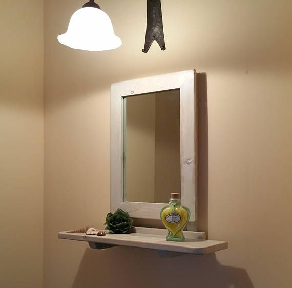 Specchio Da Parete Specchio Con Mensola Shabby Chic Specchio