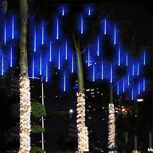 Blue Color Meteor Shower Rain Lights for Wedding Christmas Xmas