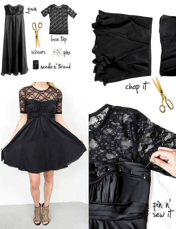 Modificar un vestido de noche