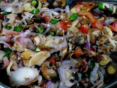 Resepi Kerabu Kerang Makanan Indonesia Pinterest