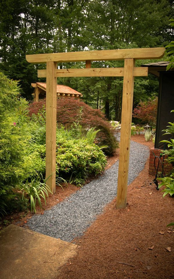 japan garden wood bridge and gate google keress