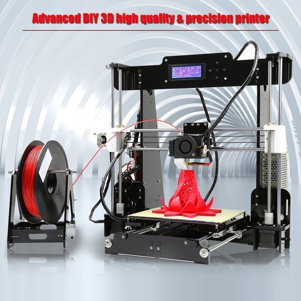 3d printer high precision desktop kits reprap i3 diy printing use abs pla hip pp anet 3dmodeling 3dprinting 3d printing print printmaking filament  [ 1000 x 1000 Pixel ]