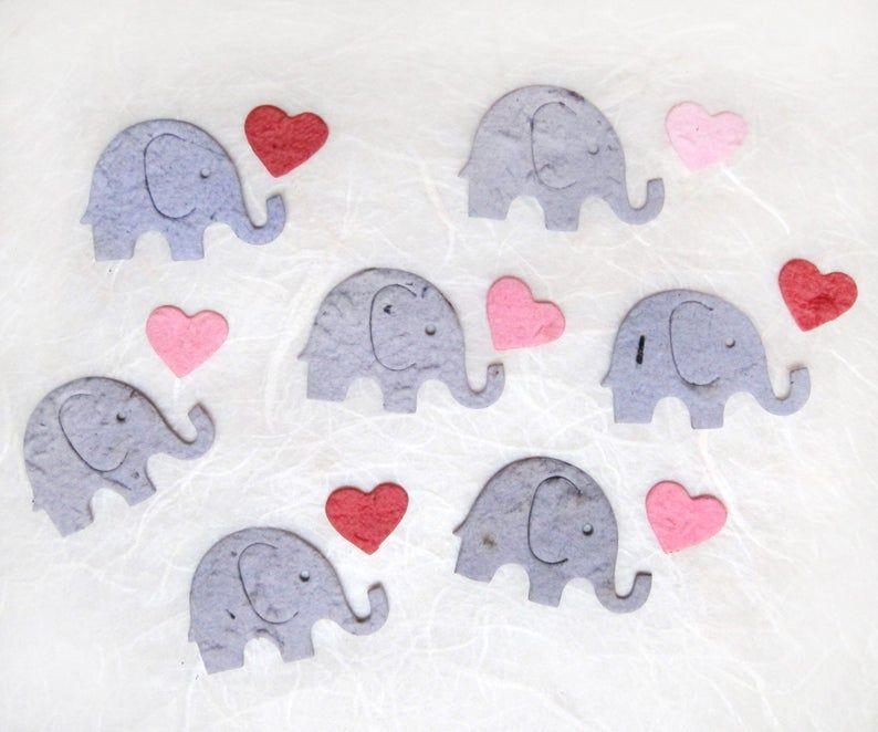50 flower seed paper confetti elephants plantable