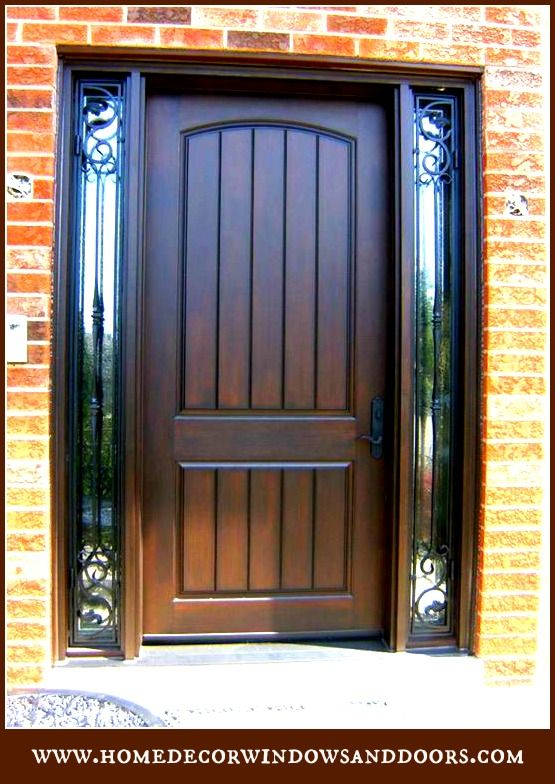 Custom 8 Fiberglass Door System With Wrought Iron Sidelights Your