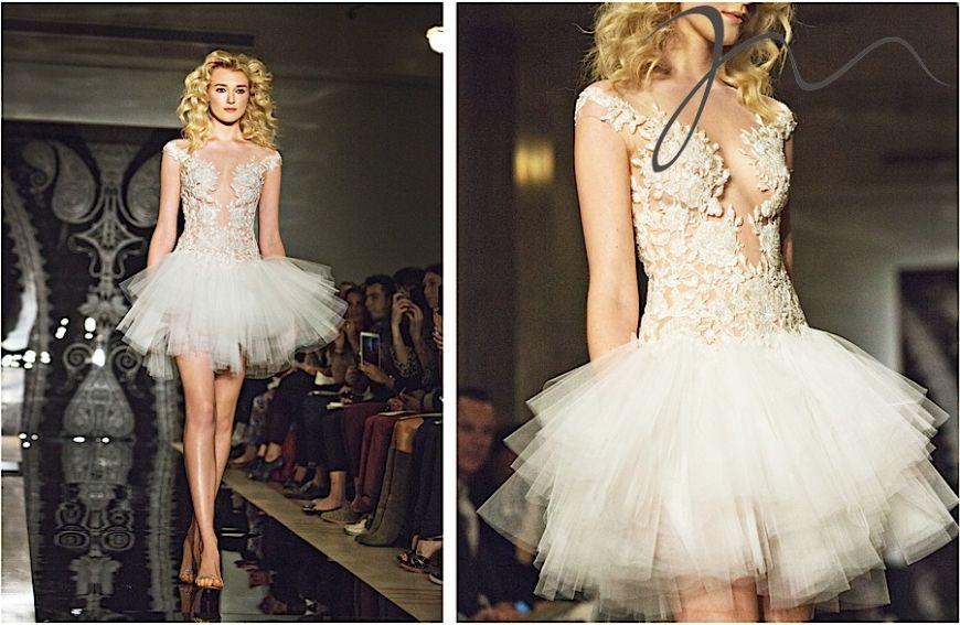 Amazig ballerina inspired reem acra wedding dress photo