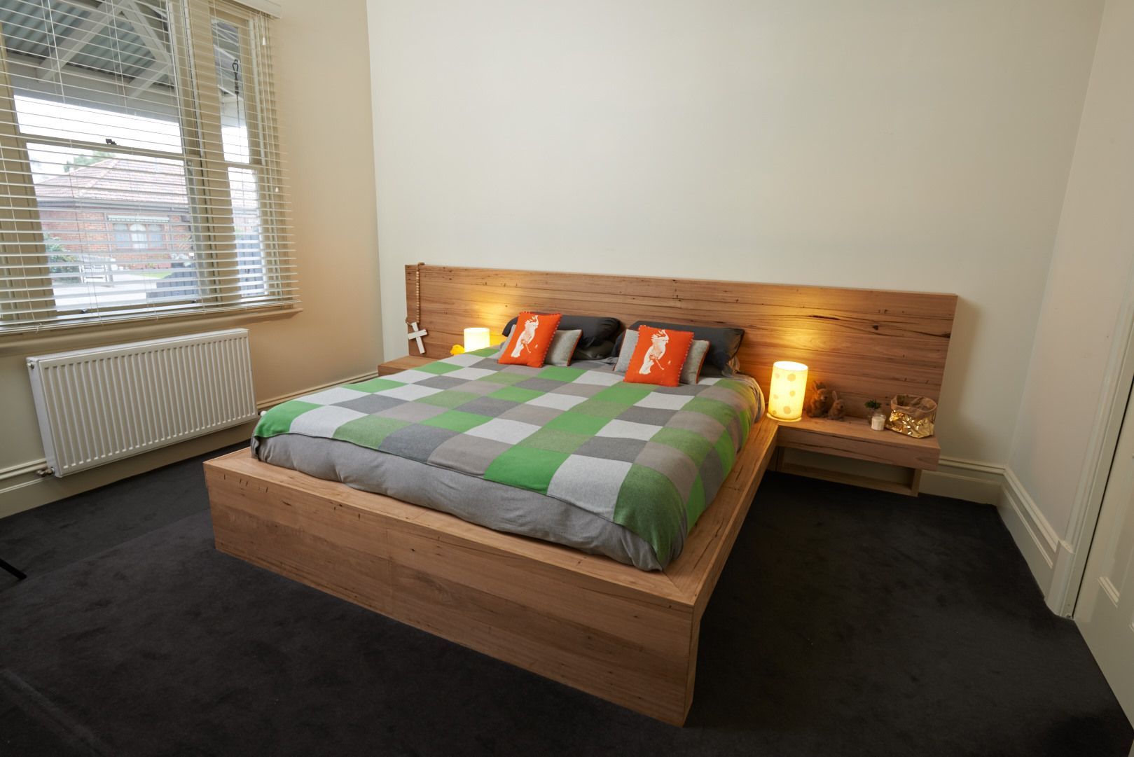 King-size Timber Bed | for the home | Pinterest