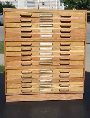 15 drawer stacor oak blueprint map artist drafting flat file storage 15 drawer stacor oak blueprint malvernweather Image collections
