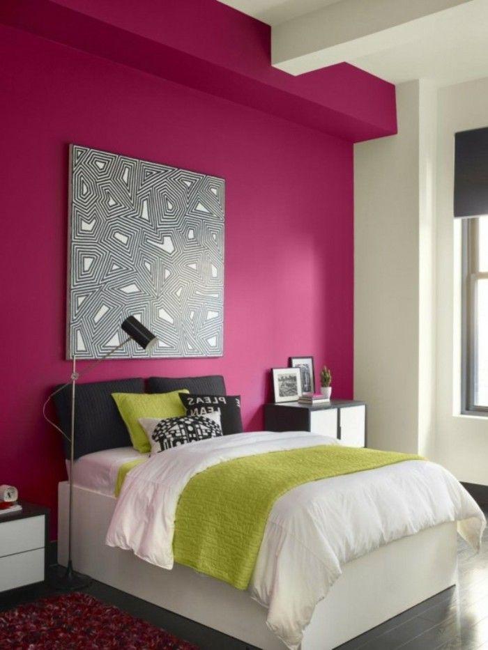 Originelle Wandfarben Ideen Rosige Wand Im Mädchenzimmer