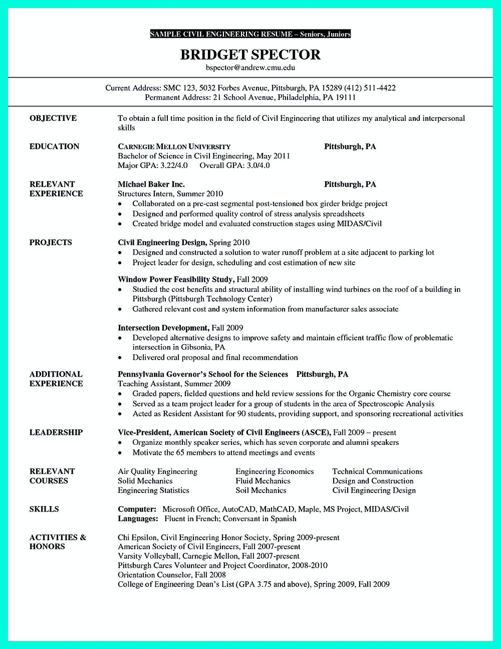 Chemical Engineering Resume There Are So Many Civil Engineering Resume Samples You Can