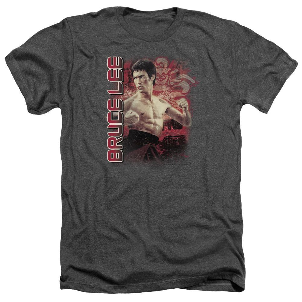 Bruce Lee Fury Charcoal Heathered Duo-Blend T-Shirt