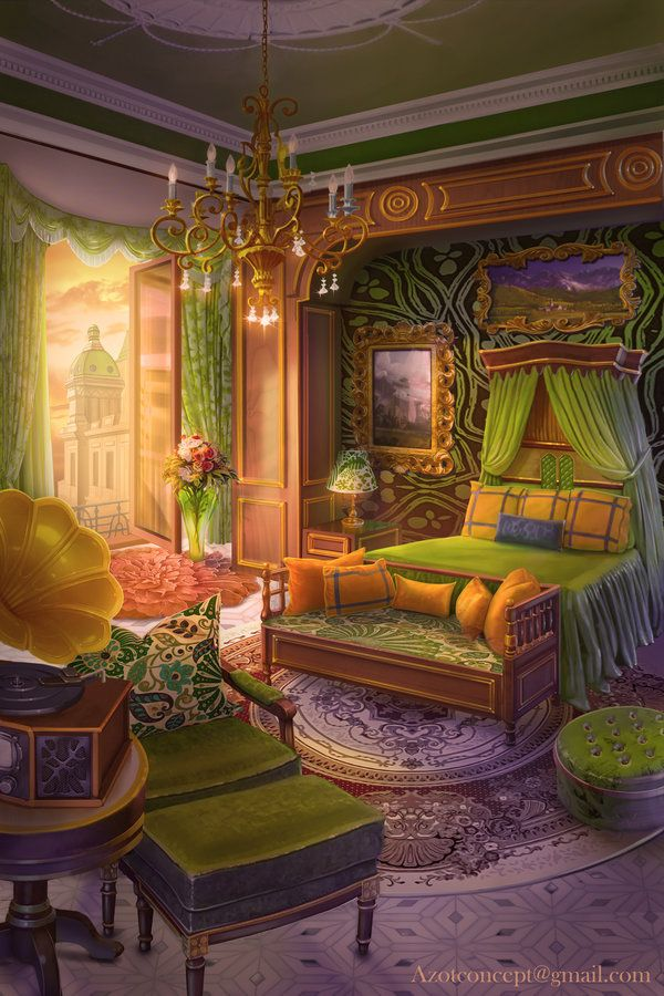 Bedroom in the Castle by on