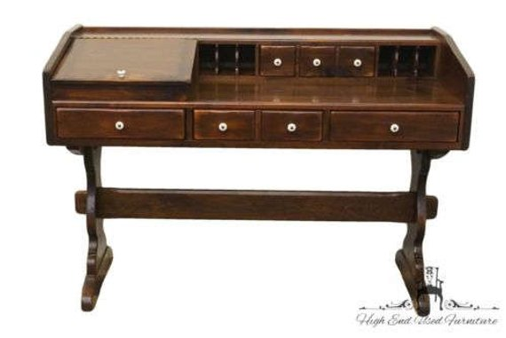 Ethan Allen Antiqued Pine Old Tavern 54 Desk 12 9506 Home Decor