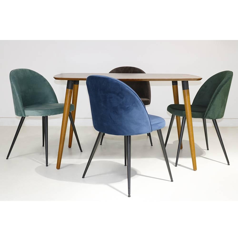 chaise scandinave en velours sofia