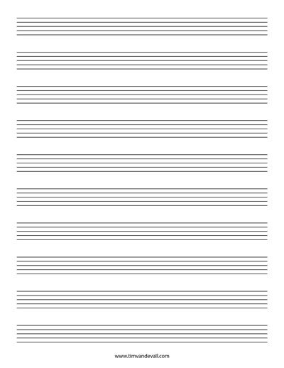 Blank Music Staff Paper Pdf 6 10 12 Stave Sheet Music Sheet Music Free Sheet Music Music