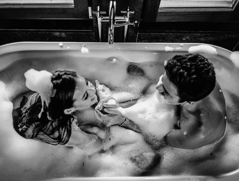 Take a bubble bath together